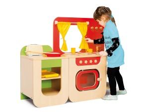 Kuchenka drewniana wyposażenie dla dziecka