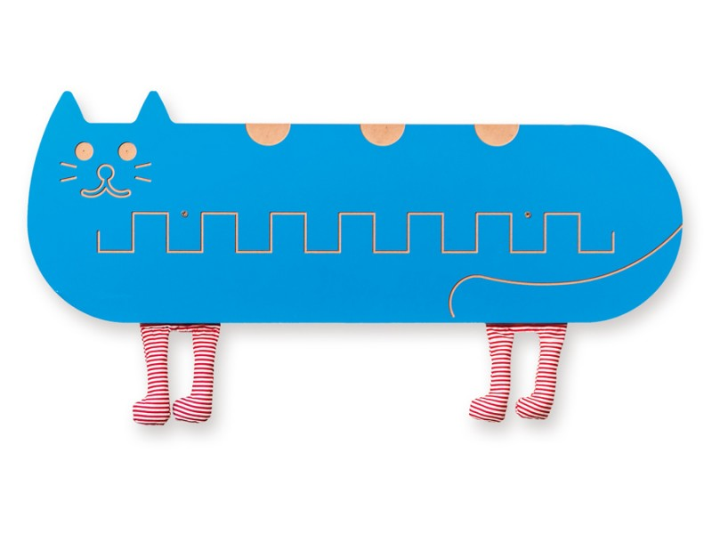 Kot Szlaczki ścienne z aplikacją wyposażenie dla dziecka