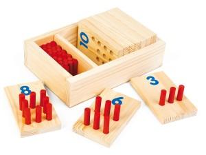Cyfry kołeczki 1-10 zabawka edukacyjna dla dziecka