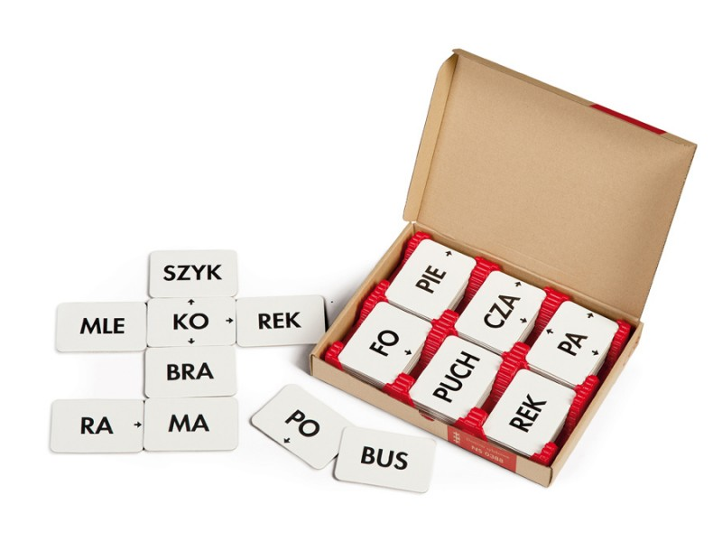 Domino sylabowo-logopedyczne inteligencja językowa dziecka
