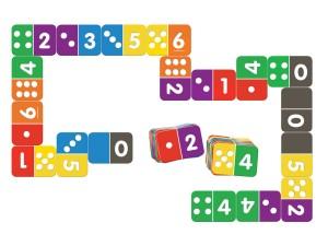 Domino liczbowe. Gra matematyczna inteligencja językowa dziecka
