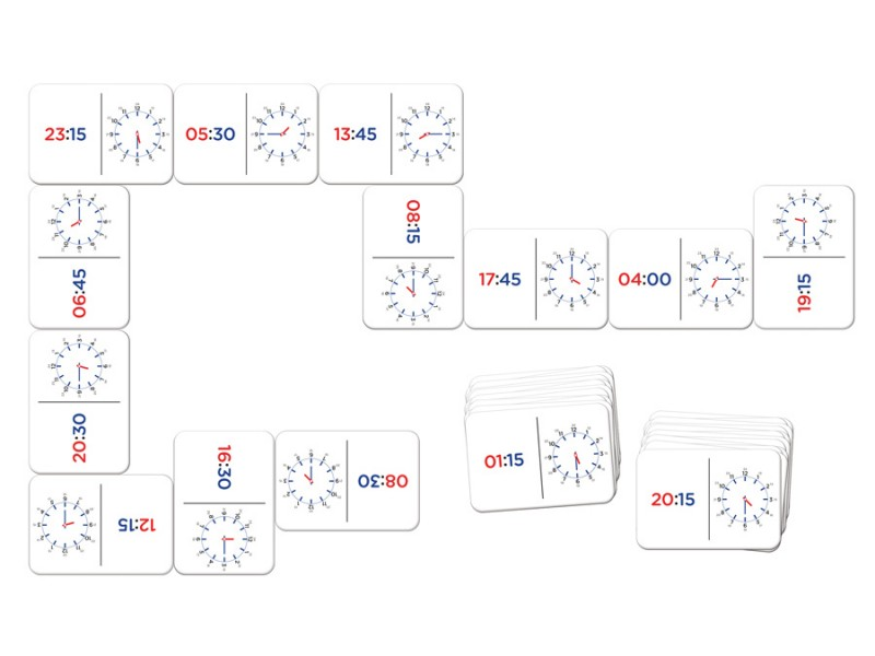 Domino zegarowe zabawka edukacyjna dla dziecka
