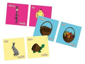 Gra edukacyjna Przeciwieństwa inteligencja językowa dziecka