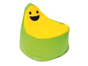 Siedzisko zabawna buźka. Zielono – żółte