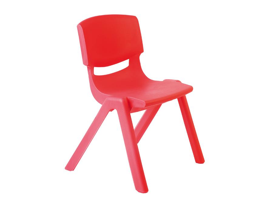 Krzesło przedszkolne czerwone Motylek 2